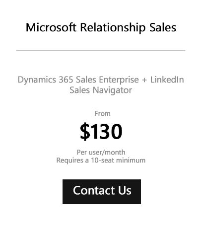 Dynamics 365 Microsoft Relationship Sales