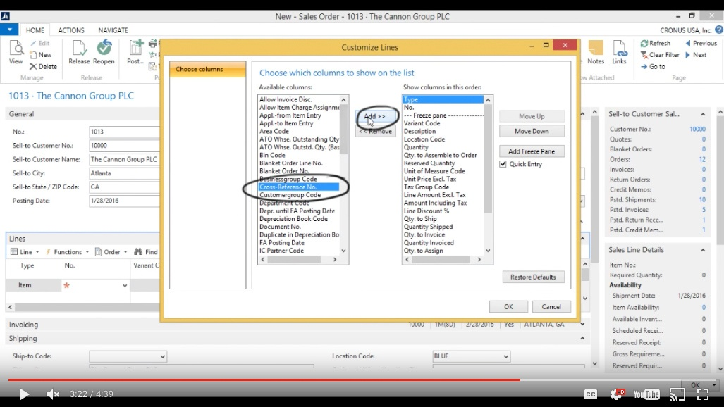 How to use cross references in Microsoft Dynamics NAV 2015