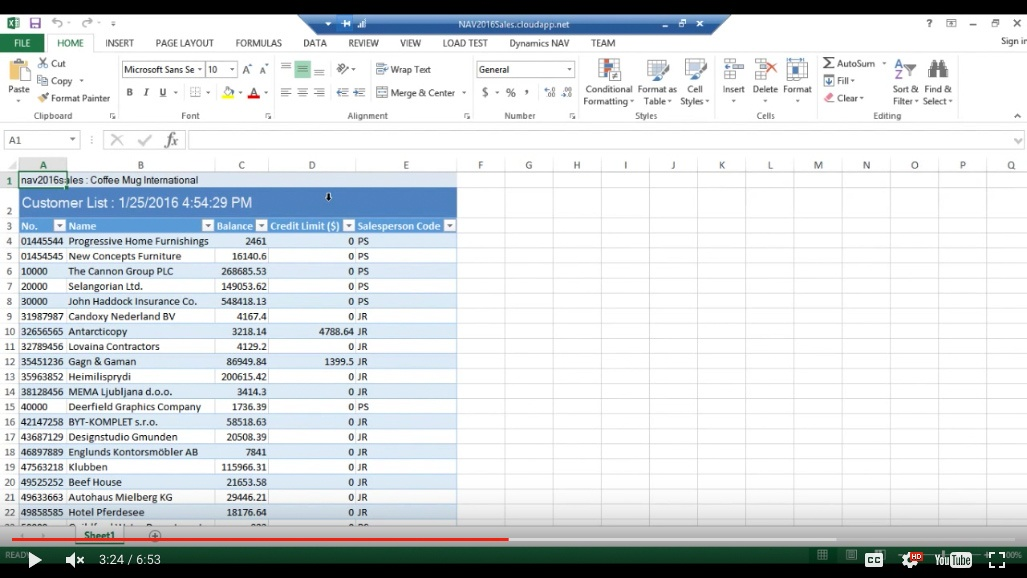 How to Work With Excel and Microsoft Dynamics NAV 2016